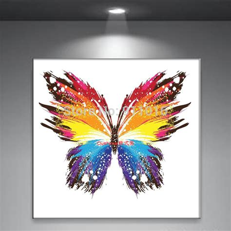 Handmade Paintings - aliexpress buy handmade abstract butterfly picture