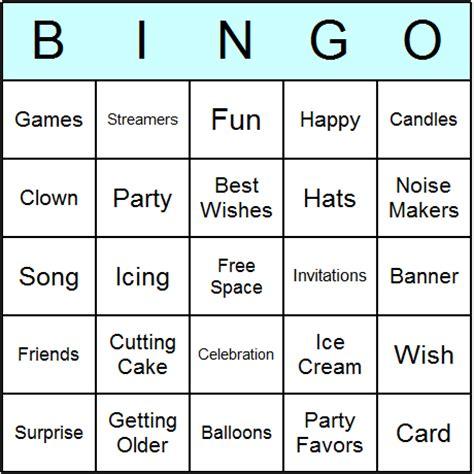 printable birthday bingo cards birthday bingo cards printable bingo activity game and