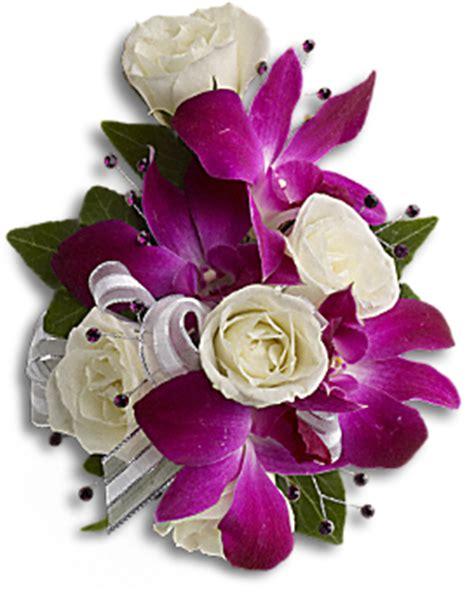 Flowpy Florist Simple 6 Roses Bouquet Multi Colour fancy orchids and roses wristlet corsage teleflora