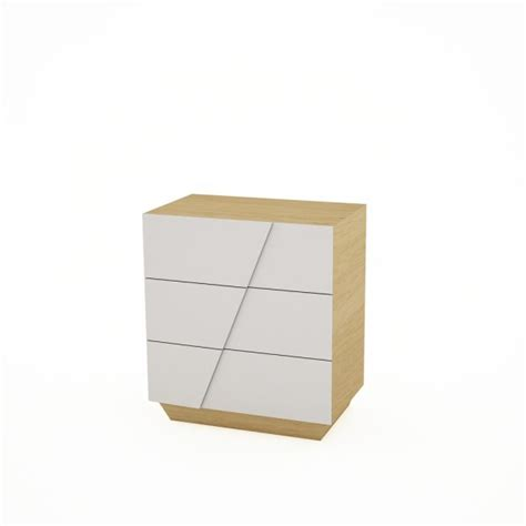 White And Oak Chest Of Drawers by Buy Gillmore Space White Lacquer And Oak Chest Of Drawers