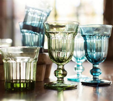Pottery Barn Barware Colorful Cafe Glassware By Pottery Barn Retro Style