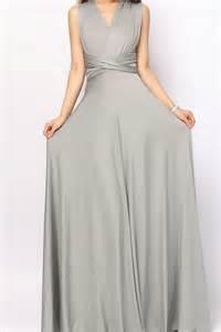 grey long infinity dress convertible dress bridesmaid