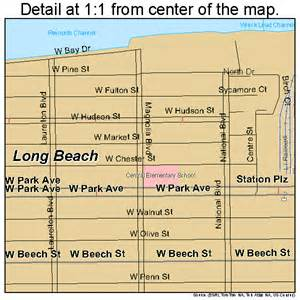 Map Of New York Beaches by Long Beach New York Street Map 3643335