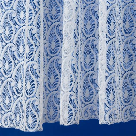 paisley lace curtains paisley net curtain complete roll from net curtains direct