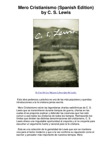 mero cristianismo mero cristianismo spanish edition by c s lewis una joya en la bibli