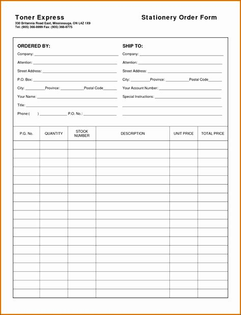 Mail Order Receipt Template by 11 Sle Order Form Format Sletemplatess