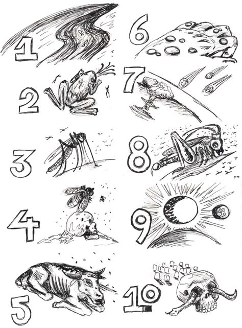 coloring pages 10 plagues egypt 6 of 10 plagues of egypt are mentioned in revelations