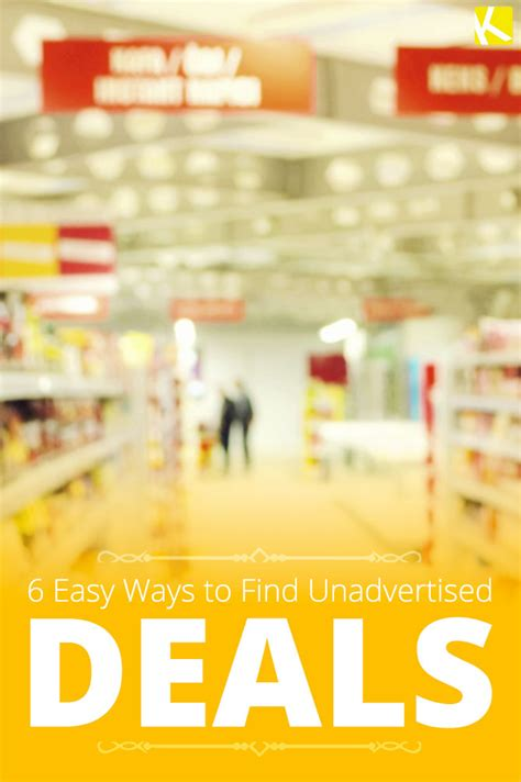 7 Ways To Find Bargains by 6 Easy Ways To Find Unadvertised Deals Sales And Savings