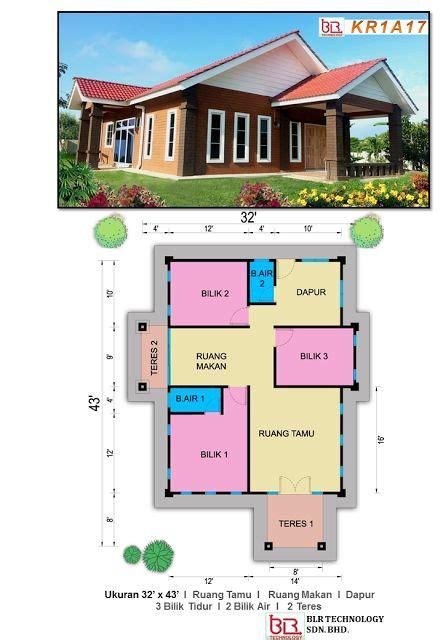 layout plan rumah pelan banglo tulip 3 bilik 2 bilik air pelan rumah ibs