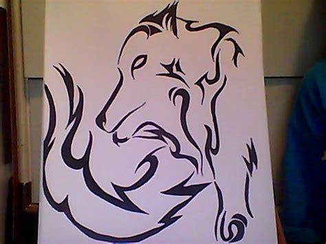 tribal pattern sharpie tribal wolf sharpie by tanahachi on deviantart