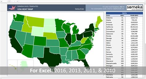 Free Excel Us Map Template