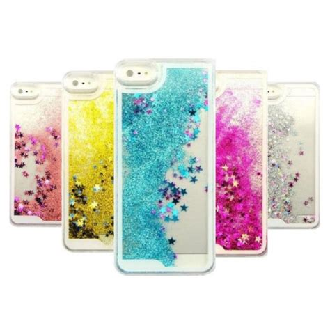 Open Po Liquid Glitter Sands For Iphone 6s Plus 7 Plus transparent fashion dynamic liquid glitter colorful paillette sand back cover for