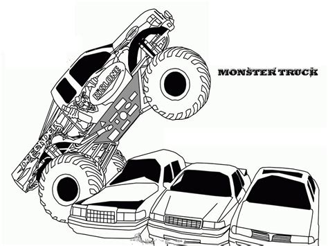 monster truck coloring pages free printables pictures to