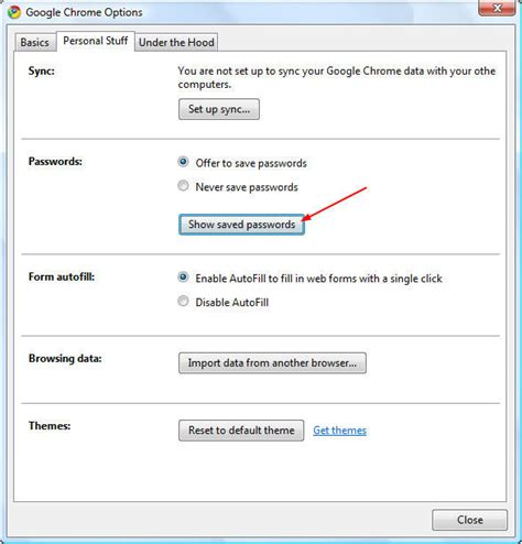 chrome saved passwords remove saved passwords in chrome
