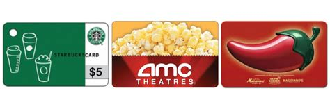 Where Can I Get Amc Gift Cards - free 5 gift card to amc starbucks chili s more