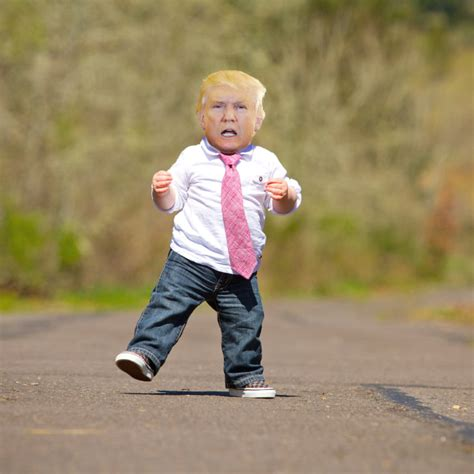 who is the little kid in the new geico commercial people are photoshopping trump as a little kid just to