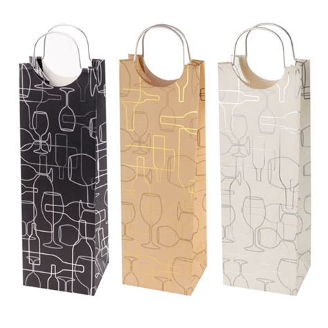 wine bag template true brands 0346 wine tote bag w metal handles wine