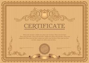 certificate vector template classical styles certificate template vectors free vector