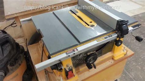 dewalt jobsite table saw accessories dewalt dw744x 10 inch table saw one year later