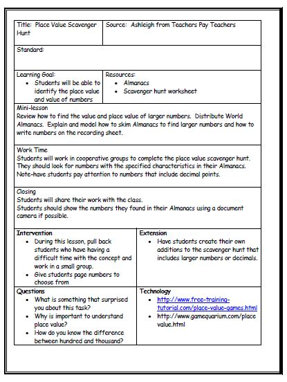 singapore math lesson plan template lesson plan format on reading