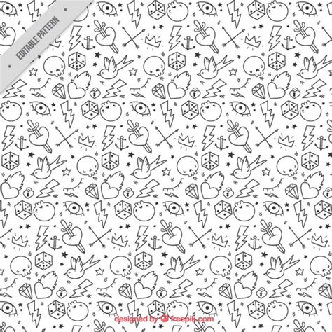 black and white pattern tattoo tattoo pattern in black and white vector free download