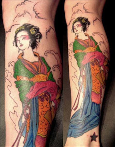 geisha tattoo calf tatatatta calf japanese tattoos with image japanese