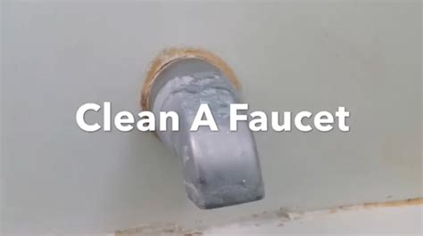 how to clean a faucet remove water stains restore