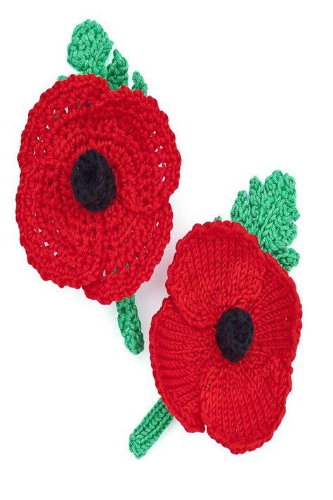 poppy knitting pattern free best 25 knitted poppies ideas on crochet