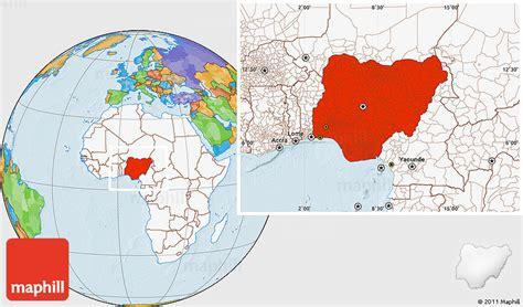 political map of nigeria ezilon maps political location map of nigeria highlighted continent