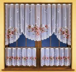 Floral Kitchen Curtains Set Of Kitchen Curtain Floral Design Ebay