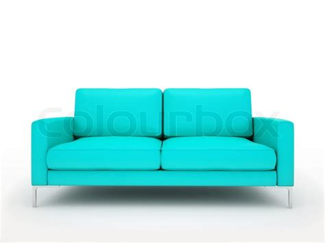 turqouise couch modern turquoise sofa isolated on white background stock