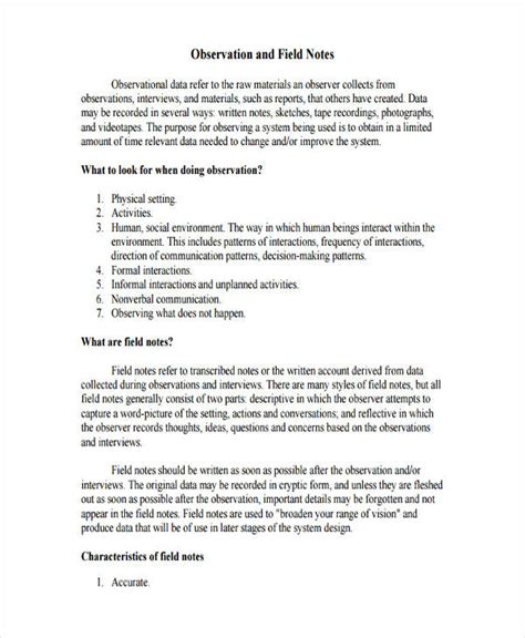 observation field notes template 100 field trip report sle pdf how to write field trip report report top