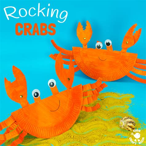 Crab Paper Plate Craft - rocking paper plate crab craft craft room