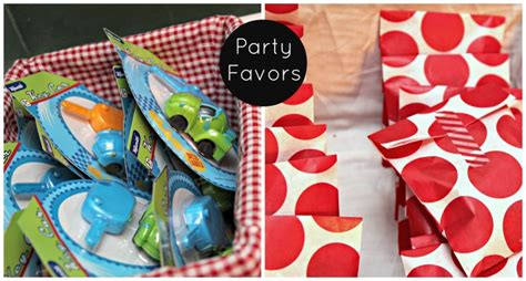 cars themed birthday giveaways toy car themed boys birthday party the cottage mama