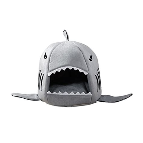 cat shark bed cat dog bed keepfit grey shark bed collapsible pet puppy warm house cave removable