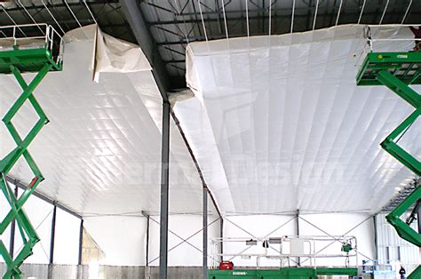 Draping Fabric From Ceiling Thermal Design Inc Steel Building Insulation Systems