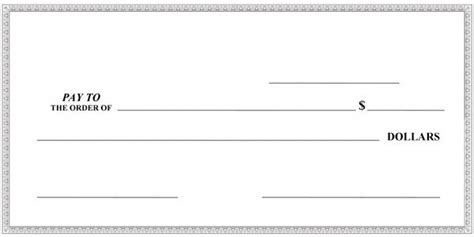 large blank check template big checks large presentation checks megaprint