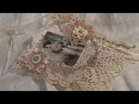 vintage shabby chic lace collage wall hanging youtube