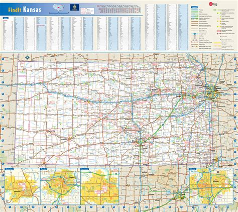 kansas state map usa large detailed roads and highways map of kansas state with