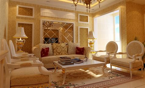 gold living room golden living room chandelier and table l design 3d house