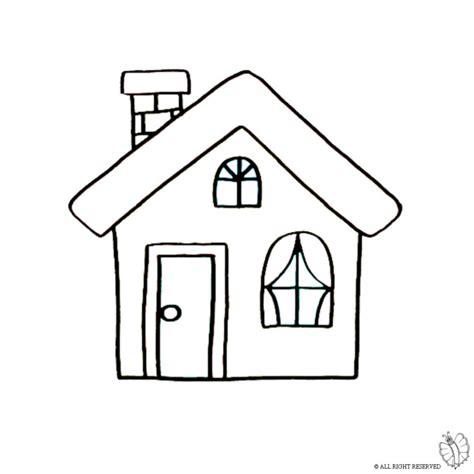 camino da colorare disegno di casa con camino da colorare per bambini
