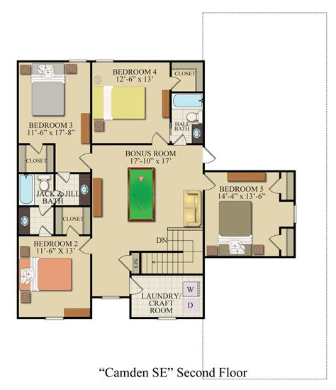 floor plan description camden se custom homes ga konter quality homes