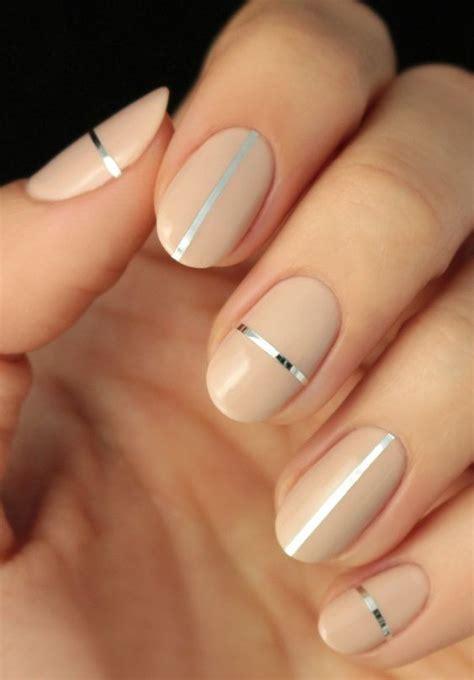 Nail Metallic Threads simple nail ideas with metallic foil threads