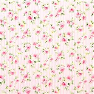 Pink and white striped flower rose fabric by cosmo more pink roses