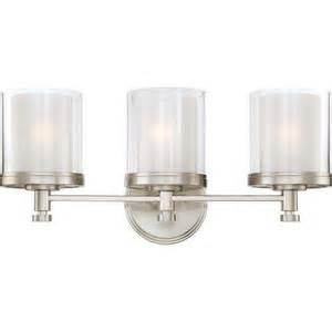 Ferguson Bathroom Lighting N604643 Decker 3 Bulb Bathroom Lighting Brushed Nickel At Shop Ferguson