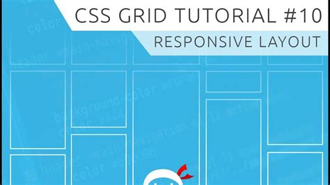 grid layout css tutorial css grid tutorial 10 responsive grid exle youtube