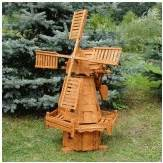 d 233 coration jardin moulin en bois