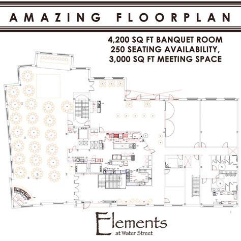 banquet hall floor plans new banquet hall downtown naperville elements at water