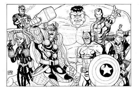 avengers assemble coloring pages avengers assemble by marvin000 on deviantart