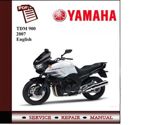 Yamaha Tdm 900 2007 Workshop Service Manual Download